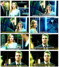 2x21 City Of Blood [gifset] - I thought about telling you almost every night. - Laurel Lance and Oliver Queen, Arrow