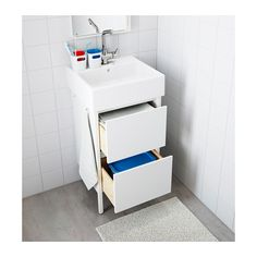 IKEA YDDINGEN wash-stand Hooks for towels or other things that you want to have within easy reach.