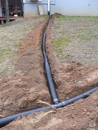 proper drainage can help prevent foundation problems. need this for the backyard! what a mud pit! Direct water to a pond.rain always brings a few drainage calls some past solutions, gardening, plumbingproper drainage can help prevent foundation probl Backyard Projects, Outdoor Projects, Drain Français, Drain Pipes, Gutter Drainage, Jardin Decor, Drainage Solutions, Drainage Ideas, French Drain