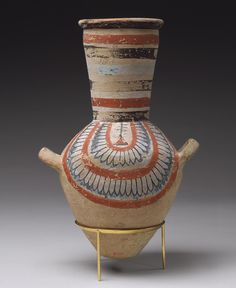 Jar from the tomb of Sennedjem, New Kingdom, reign of Ramesses II, ca. 1279–1213 B.C. Egyptian; From the tomb of Sennedjem, Deir el-Medina, western Thebes Painted red pottery