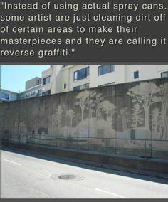 Limpiando la superficie, expresión en las paredes.