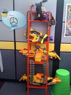 storage for nerf guns