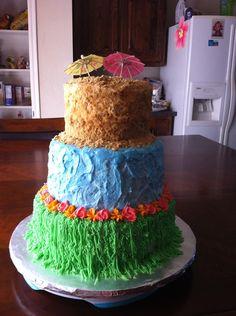 Luau Retirement Cake — Retirement