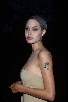 Angelina Jolie. Even with a shaved head, still so HOT.