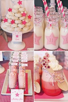 Sparkly Pink Star Party {Backyard Birthday} IF I HAD A GIRL! Or it could just be for me. (: But the milk can be mudslides (;