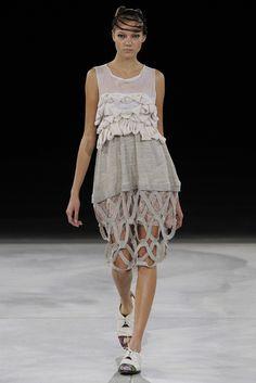 Tokyo Fashion Week: Nozomi Ishiguro Tambourine S/S 2013 Collection.