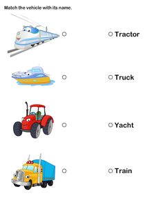 Free Printable Worksheets for Kids | Kids Worksheets on Transport |  Printable Preschool and Kindergarten Activities