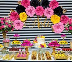 Barbie Birthday, 30th Birthday, Birthday Parties, Birthday Decorations, Baby Shower Decorations, Flower Decorations, Kate Spade Party, Kids Planner, Elegant Baby Shower