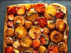 Vegetable Tarte Tatin : This beautiful side dish is a little out of the ordinary, but it's sure to be a hit at Christmas dinner.