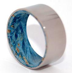 Blown Away  Titanium and Blue Box Elder by MinterandRichterDes, $325.00