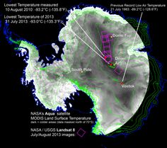 With remote-sensing satellites, scientists have found the coldest places on Earth, just off a ridge in the East Antarctic Plateau. The colde...
