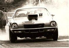 Acapulco Gold 1971 Z-28 Camaro @ Dover Drag Strip Wingdale NY