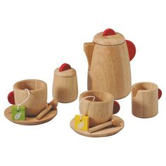 PlanToys Tea Set, Cooking and Dining Toys