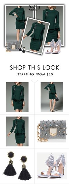 """""""Shein 2/ II"""" by ajisa-ikanovic ❤ liked on Polyvore featuring Jimmy Choo and vintage"""