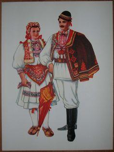 Traditional Folk Costumes | Details about Croatia Folk Costume - Zagreb Sestine - III/02