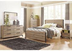 Dexifield Queen Panel Bed, Dresser & Mirror