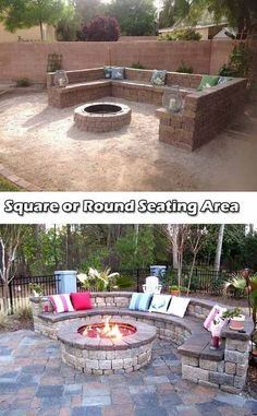 DIY fire pit designs ideas - Do you want to know how to build a DIY outdoor fire pit plans to warm your autumn and make s'mores? Find inspiring design ideas in this article. Make A Fire Pit, Diy Fire Pit, Fire Pit Backyard, Backyard Bbq, Patio Fire Pits, Stone Fire Pits, Outdoor Fire Pits, Backyard Seating, Outdoor Seating