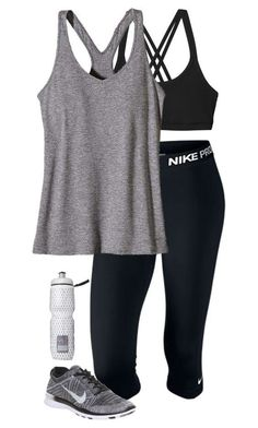 """workout outfit"" by sassy-and-southern ❤ liked on Polyvore featuring Patagonia, NIKE and Victoria's Secret:"