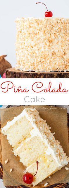 피나콜라다 케이크