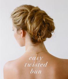 Easy Twisted Updo from Lora Kelley | DIY Updo Tutorial