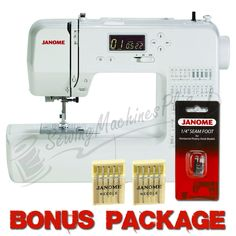 Purchase the Janome computerized sewing machine featuring 50 stitches, 3 one-step buttonholes, slide-on presser feet, and more online today. Janome, Memory Crafts, Treadle Sewing Machines, Sewing For Beginners, Buttonholes, Machine Quilting, Hand Sewing, Stitches, Free
