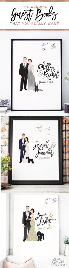 These are the wedding guest books that you will swoon over, have to have, and cherish for years to come.