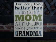 Mothers day wood sign by jjnewton on Etsy, $14.00