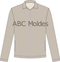 MOLDE JAQUETA BÁSICA TACTEL FORRADA Long Sleeve, Sleeves, Mens Tops, T Shirt, Fashion, Women Blazer, Shearling Vest, Jacket, Productivity