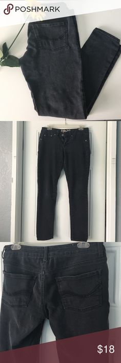 Faded Black Jeans These faded black jeans are perfect for an everyday wear! It comes in a size 9 and is 37inches in length and 16inches in width. The jeans are quite faded because that is how I bought them but they have been washed a few times which has made it a bit more faded. However they are still in good condition and very comfortable since they are technically jeggings. They are 73% cotton, 26% polyester, & 1% spandex. Let me know if you're interested! Kohls Jeans Skinny