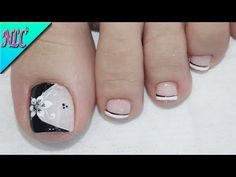 Semi-permanent varnish, false nails, patches: which manicure to choose? - My Nails French Pedicure, Pedicure Nail Art, Toe Nail Art, Cute Pedicure Designs, Toe Nail Designs, Pretty Toe Nails, Cute Toe Nails, Pink Nail Art, Flower Nail Art
