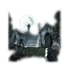 paysages moir pour creations ❤ liked on Polyvore featuring backgrounds, halloween, tubes, buildings, filler, art, scenery, effect, detail and embellishment