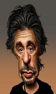 Al Pacino - illustration by Louis Gaspardo (Caricature) http://dunway.com