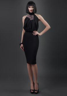 Palton R edition 4881761 rosu - els - FashionUP! Out Of Style, Peplum Dress, Dresses For Work, How To Wear, Black, Fashion, Moda, Black People, Fashion Styles