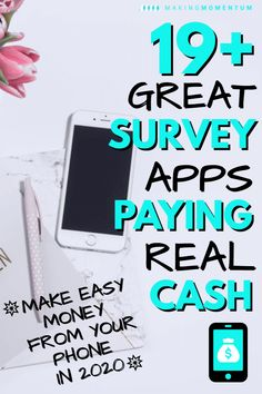 Are you looking for some great ways to make money in your spare time to help reach your financial goals? With this collection of 19+ of the best paid online survey sites you can easily earn extra cash from your phone or computer! Make $100's each month by sharing your opinion online in 2020...you can even do it on your commute or couch! Check out these legit, free apps and get started today. #makemoney #makemoneyonline #sidehustle #DIYjobs #personalfinance