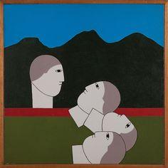 """Antonio Maia, """"Amuleto 131"""". Acrílica sobre tela.- 60x60 cm"""