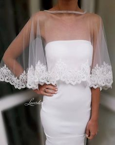 Bridal cape with lace trim/Classic bridal cape/Bridal ivory cape/Bridal lace cape/Ivory bridal cape/Lace embellished cape/Bridal cover up Bridal Cape, Bridal Bolero, Wedding Cape, After Five Dresses, Wedding Cardigan, Bridal Dresses, Wedding Gowns, Dresses Short, Lace Mermaid Wedding Dress