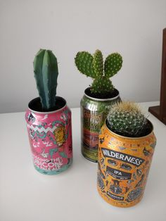 Beer can desk plants I made : pics Indie Room Decor, Cute Bedroom Decor, Aesthetic Room Decor, Room Ideas Bedroom, Indie Bedroom, Monster Crafts, Ideias Diy, Plant Decor, My Room