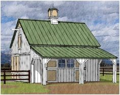 Free complete plans with materials list Small Horse Barn Plans by Donald J… Small Barn Plans, Pole Barn Plans, Cabana, Small Horse Barns, Timber Frame Cabin, Barns Sheds, Pole Barns, Dream Barn, Shed Plans