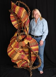 Woven sculpture by Tina Puckett.