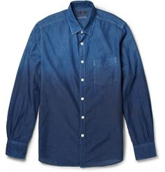 Socially Conveyed via WeLikedThis.co.uk - The UK's Finest Products -   NEW MOON GRADATED-INDIGO COTTON SHIRT http://welikedthis.co.uk/?p=3400