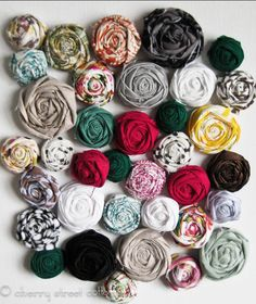 Make Shabby rosettes tutorial and 45 BEST Shabby Lifestyle Decor & Accessory DIY Tutorials EVER!! From MrsPollyRogers.com