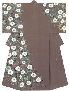 """kagayuzen: """" Kaga-Yuzen Kimono (Homongi) Hiroshi Nakamachi """""""