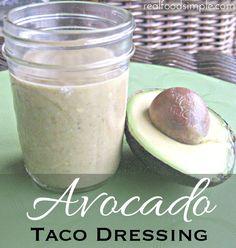 avocado taco dressing | realfoodsimple.com