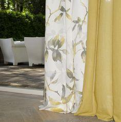 nieuwe kleurrijke serie gordijnstoffen Floral Flavours van lifestyle-interior.nl