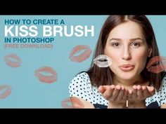 How to Create a Kiss Brush in Photoshop (Free Download) - YouTube