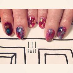 ▪▫️▪️▫ #nail#art#nailart#ネイル#ネイルアート #大理石ネイル#red#nuance#成人式#ショートネイル#nailsalon#ネイルサロン#表参道#red111#成人式111#nuance111#大理石111