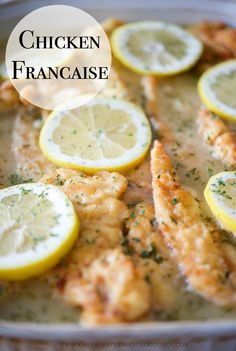 Chicken Francaise; which is tender chicken in a light, lemony sauce, is a… Cooking For A Crowd, Food For A Crowd, Chicken Francaise Recipe, Food Dishes, Main Dishes, Risotto, Gluten, Feeding A Crowd, Salads