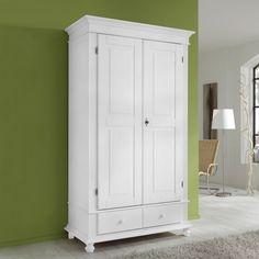 FIORE 505 Kleiderschrank 2 Trg Schrank Kiefer Massiv Weiß. Dielenschrank  Ravello   Kiefer | Home24