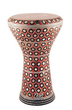 EL FAN Mother of Pearl Drum 17 Doumbek DARBUKA Red Profassional Drum