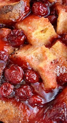Baked Cherry Cheesecake French Toast